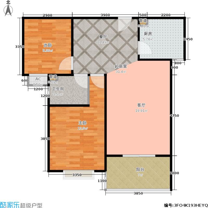 滨河新东城17号楼B-3户型