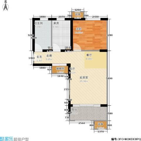 绿岛江湾城1室0厅1卫1厨62.00㎡户型图