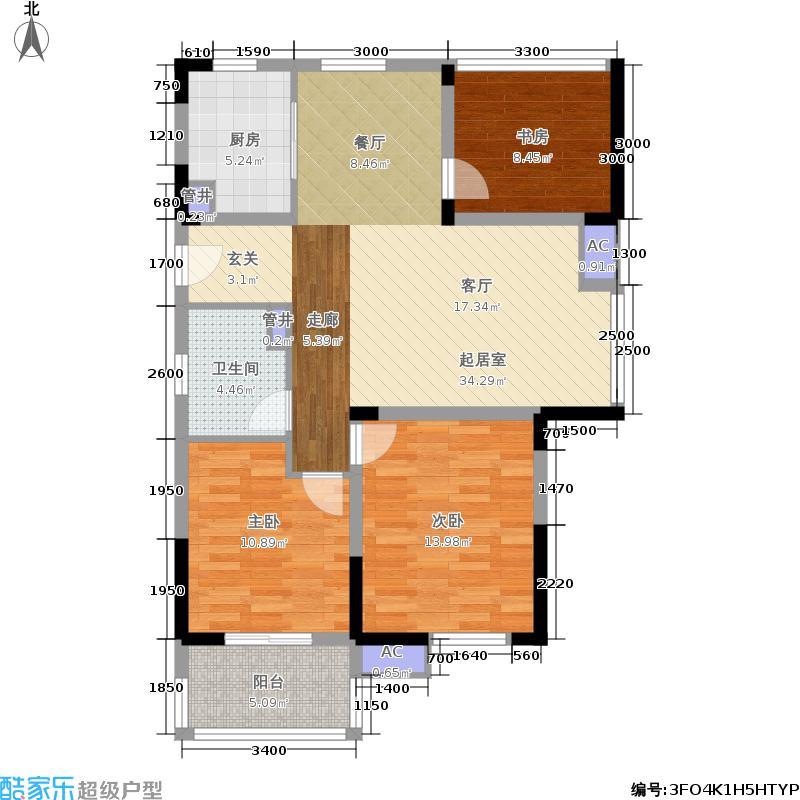 柏庄观邸112.19㎡二期高层11#楼C户型
