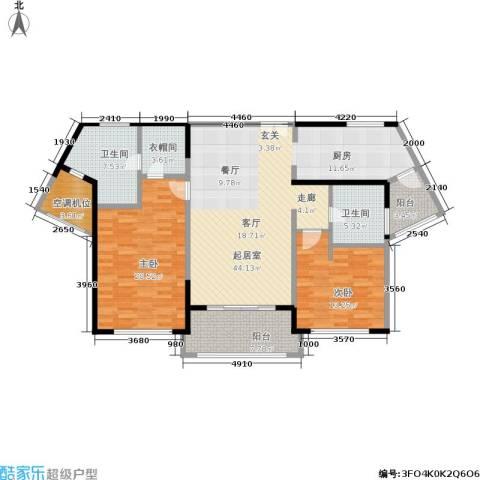 浦江海景2室0厅2卫0厨122.00㎡户型图