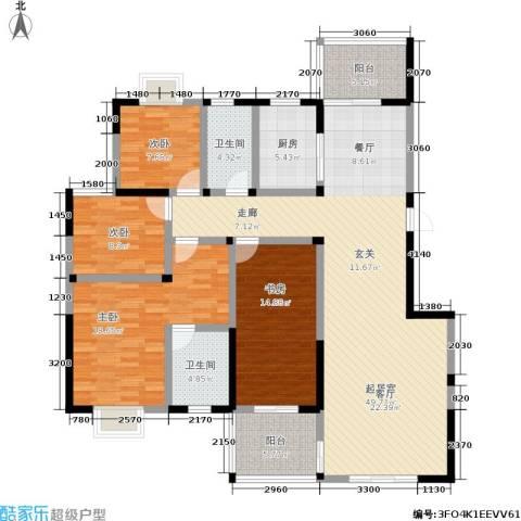 丽水山川4室0厅2卫1厨179.00㎡户型图