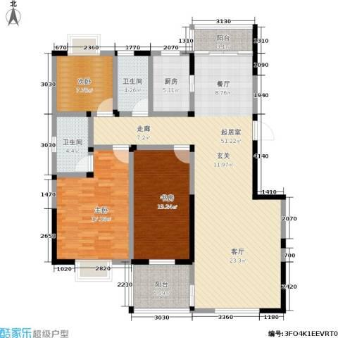 丽水山川3室0厅2卫1厨164.00㎡户型图