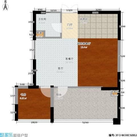 嘉联华铭座.宝善公寓1室1厅1卫0厨76.00㎡户型图
