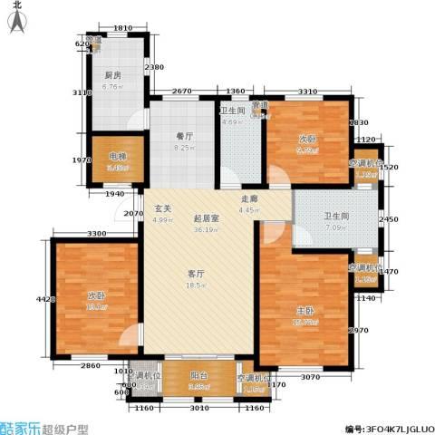 水韵豪庭3室0厅2卫1厨141.00㎡户型图