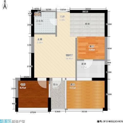 嘉联华铭座.宝善公寓1室1厅1卫1厨128.00㎡户型图