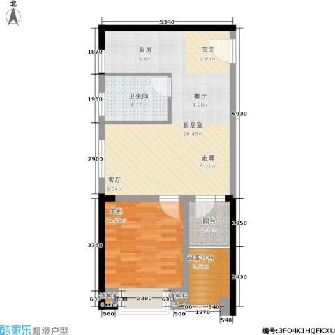 高速时代城1室0厅1卫0厨60.00㎡户型图