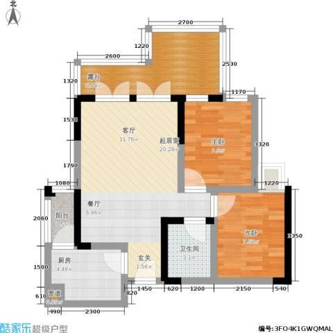 宗颐・香山郦居2室0厅1卫1厨71.00㎡户型图