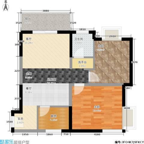 学林雅苑,长安星园2室0厅1卫1厨83.00㎡户型图
