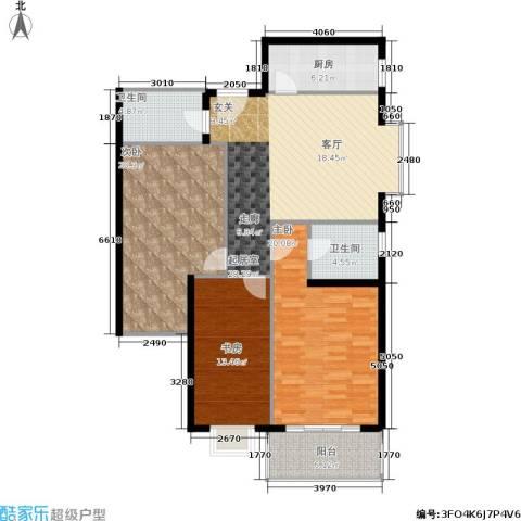 中菲香槟城一期3室0厅2卫1厨113.00㎡户型图