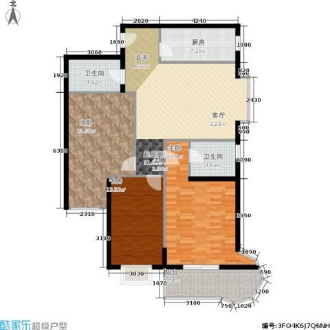 中菲香槟城一期3室0厅2卫1厨119.00㎡户型图