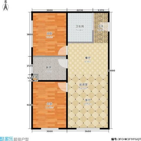 新星宇和悦2室0厅1卫1厨82.00㎡户型图