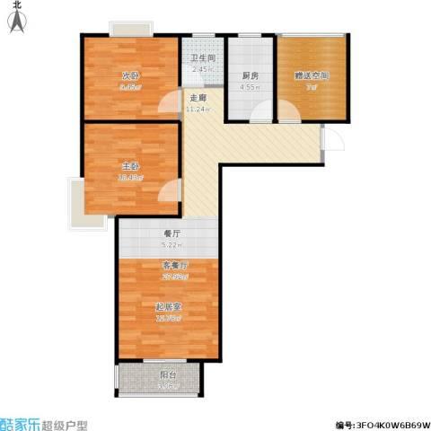 香城丽景・悦动社区2室1厅1卫1厨88.00㎡户型图