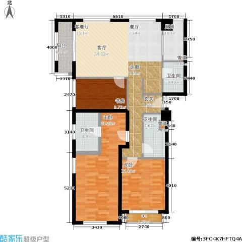 麦迪逊花园二期3室1厅3卫1厨146.00㎡户型图