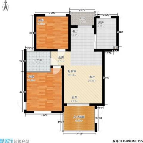 聚丰景都2室0厅1卫1厨90.00㎡户型图