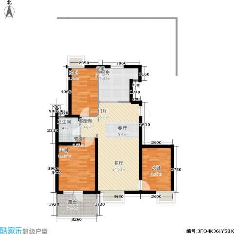 北京城建·琨廷3室1厅1卫1厨100.00㎡户型图