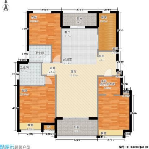 中建公元壹号3室0厅2卫1厨130.00㎡户型图