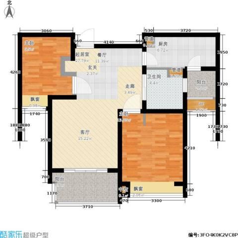 好世凤翔苑2室0厅1卫1厨87.00㎡户型图