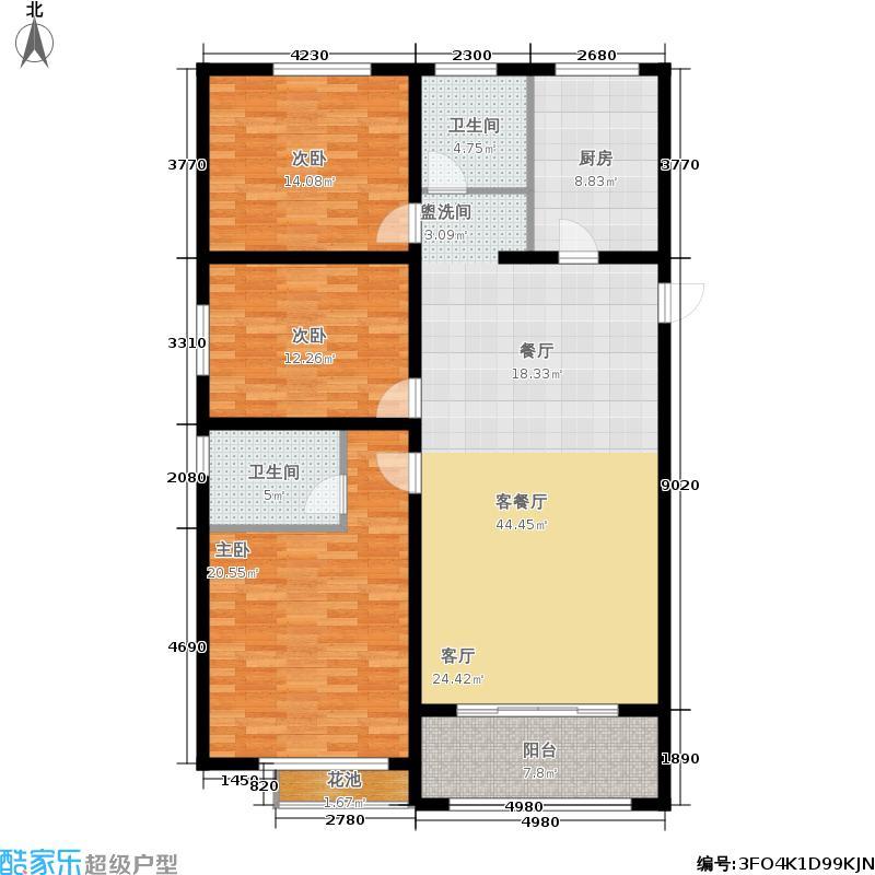 国际名仕观邸134.00㎡1#楼A1户型