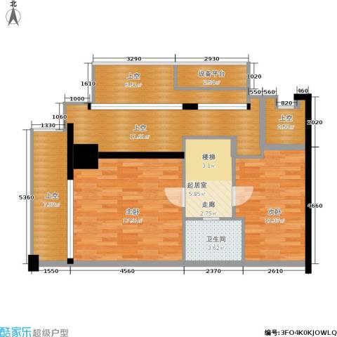 乐非天地2室0厅1卫0厨80.00㎡户型图