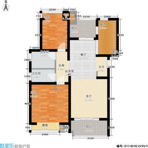 好世凤翔苑2室0厅2卫1厨92.00㎡户型图