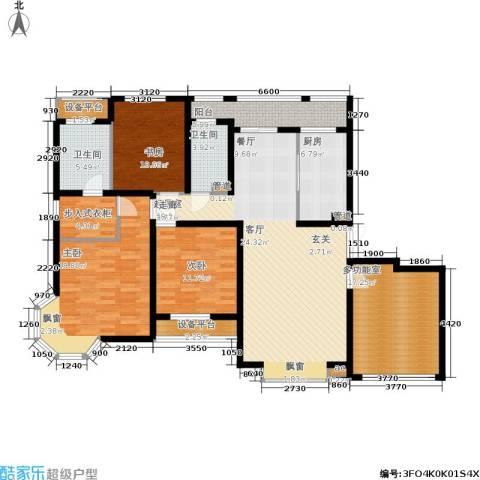 明天华城3室0厅2卫1厨141.00㎡户型图