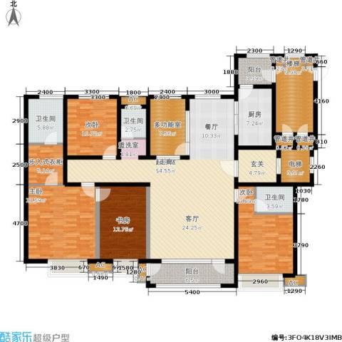 兴盛大成4室0厅3卫1厨249.00㎡户型图