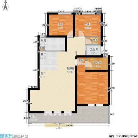 上郡3室1厅2卫1厨120.00㎡户型图
