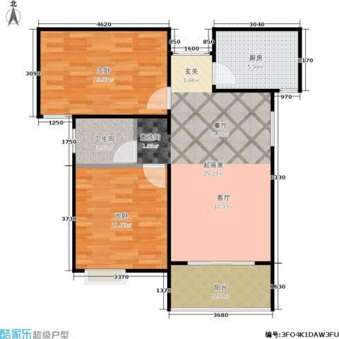 三维国贸中心2室0厅1卫1厨78.00㎡户型图