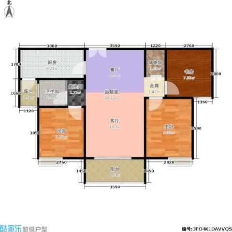 三维国贸中心3室0厅1卫1厨78.00㎡户型图