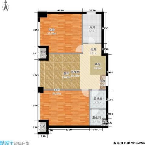 龙吟广场2室1厅1卫1厨97.00㎡户型图