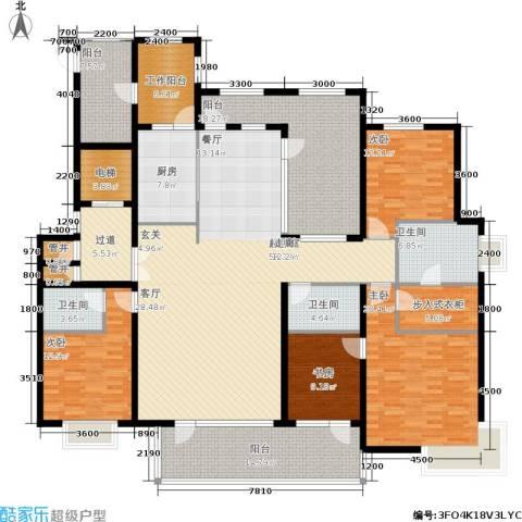 兴盛大成4室0厅3卫1厨282.00㎡户型图