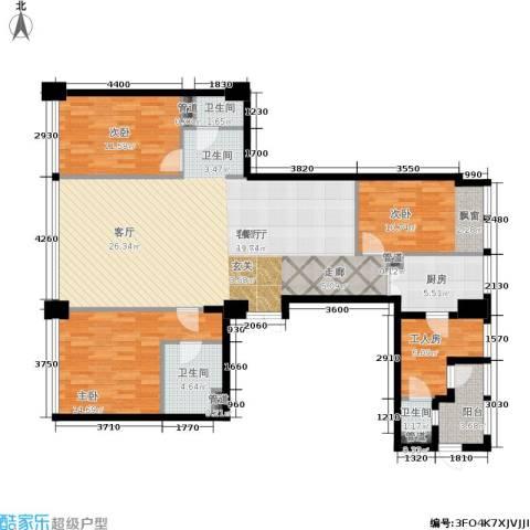龙吟广场3室1厅3卫1厨202.00㎡户型图