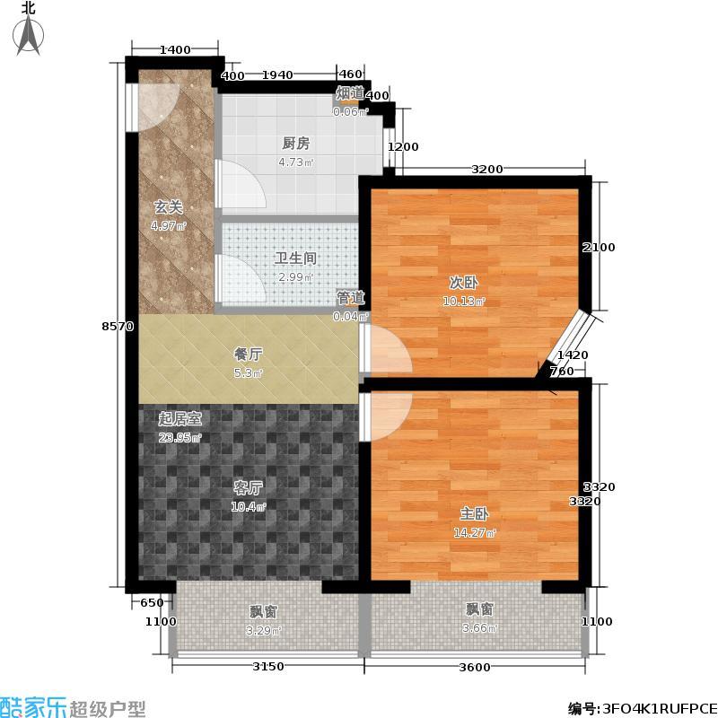 北一街8号(高教新城)65.00㎡高教新城惠风园1号楼J/K户型2室1厅