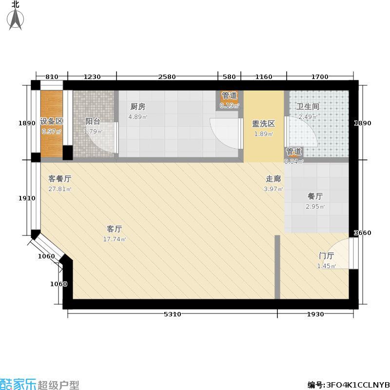 时代国际3#5单元E21室1户型