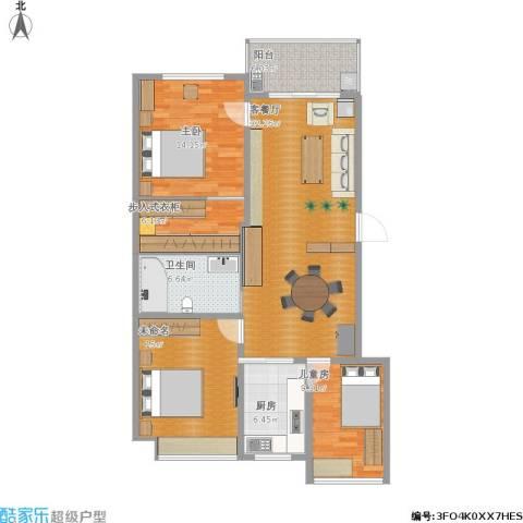 万家花园2室1厅1卫1厨132.00㎡户型图