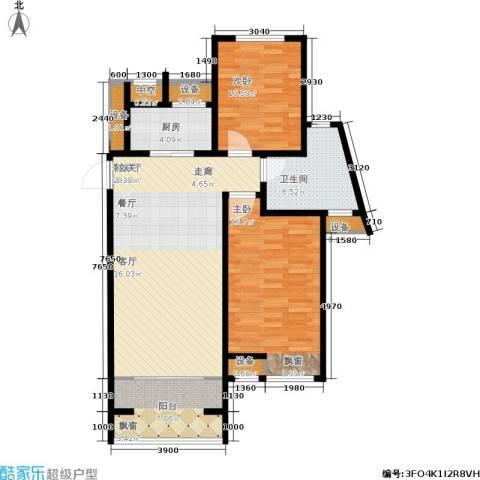 戴河海公园2室1厅1卫1厨105.00㎡户型图