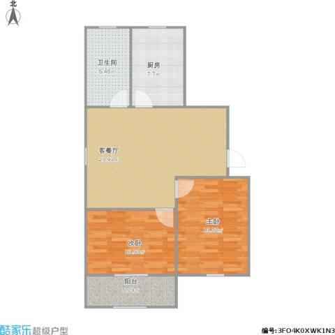 书香苑(东环路)2室1厅1卫1厨89.00㎡户型图