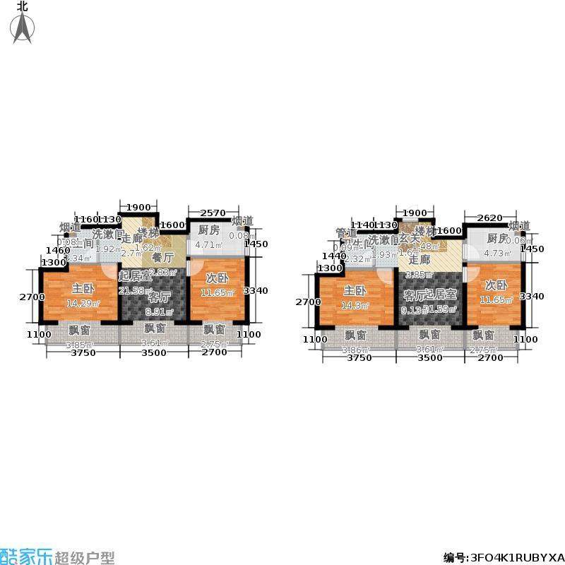 北一街8号(高教新城)68.00㎡高教新城和畅园6号楼D1四居双厅双厨双卫户型