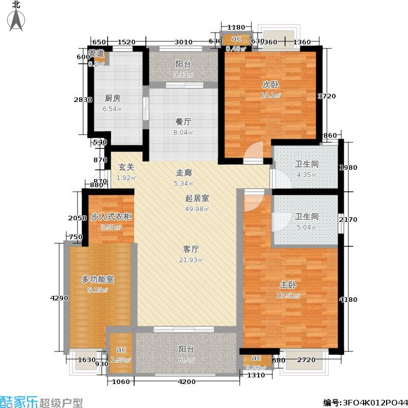 宋都美域128.00㎡2号楼A1面积12800m户型