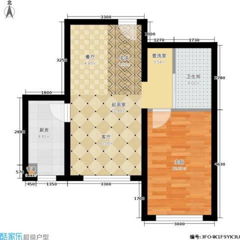 新星宇和悦1室0厅1卫1厨63.00㎡户型图