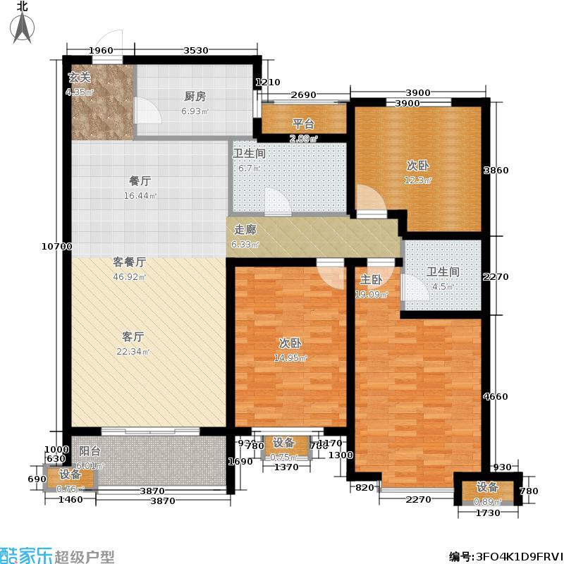 宝林大东关颐景园138.00㎡H户型