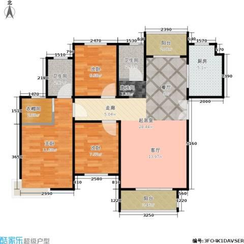 三维国贸中心3室0厅2卫1厨78.00㎡户型图