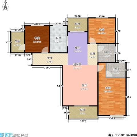 三维国贸中心3室0厅2卫1厨128.00㎡户型图