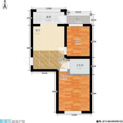 华远龙湾2室0厅1卫0厨49.00㎡户型图