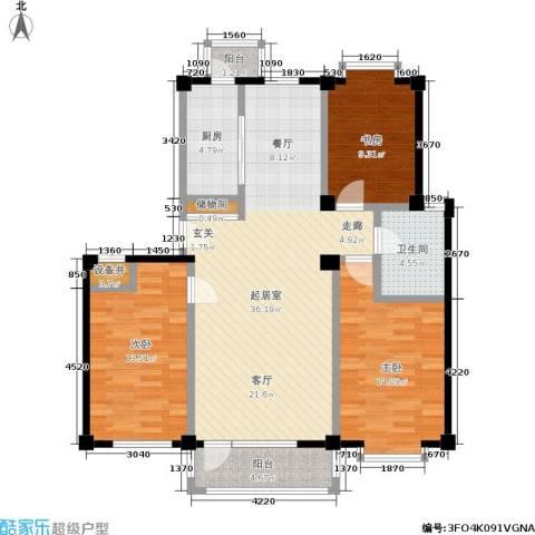 哈佛映像3室0厅1卫1厨102.26㎡户型图
