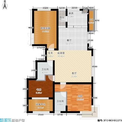 大苑·海淀名著2室0厅2卫1厨115.00㎡户型图