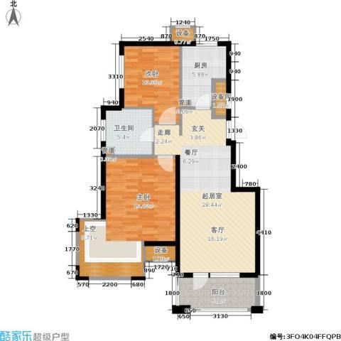 新弘国际阳光城2室0厅1卫1厨81.10㎡户型图