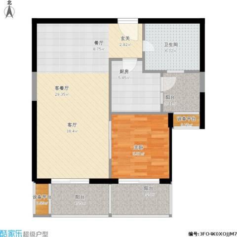 浅水湾恺悦名城1室1厅1卫1厨89.00㎡户型图