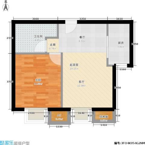 中建·玲珑山1室0厅1卫1厨57.00㎡户型图
