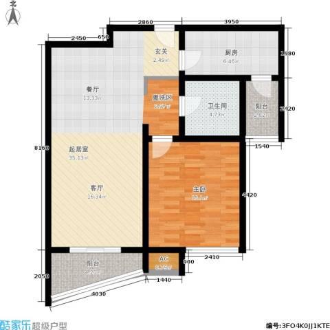 棕榈滩海景城1室0厅1卫1厨80.00㎡户型图